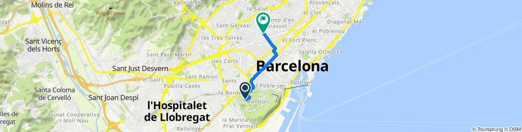 Ruta desde Camí de la Foixarda s/n, Barcelona