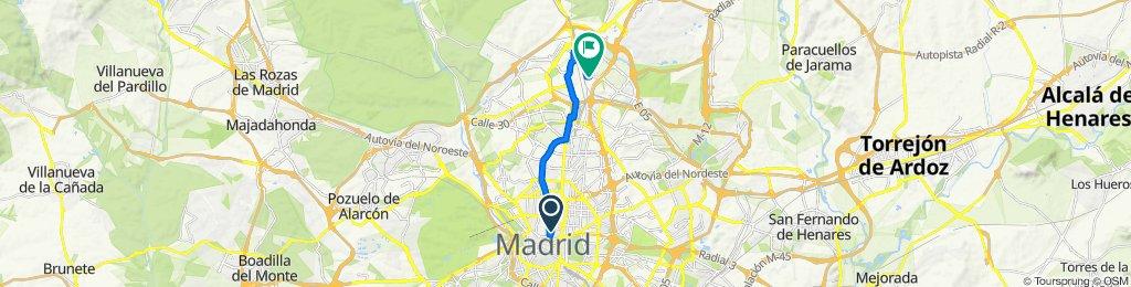 De Calle de Barbieri, 24, Madrid a Avenida del Camino de Santiago, 1, Madrid