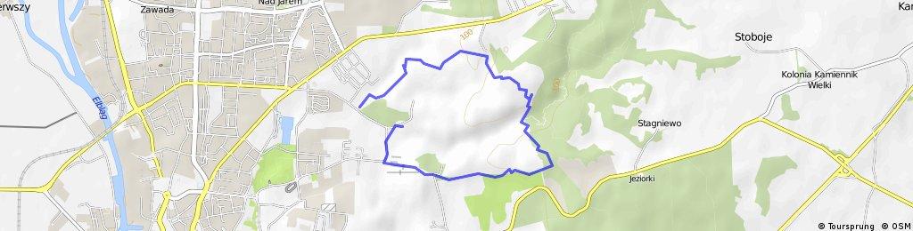Bażantarnia - Szlak Okólny - Szlak Żółty