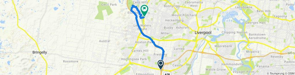 M5 Motorway, Prestons to 23 Whitsunday Circuit, Green Valley