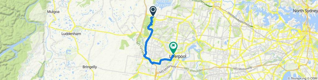 Route to 40 Grimson Crescent, Liverpool