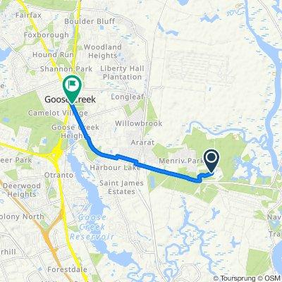 1511 Nnptc Cir, Goose Creek to 103 Red Bank Rd, Goose Creek