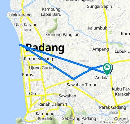 Jalan Muslimin, Kecamatan Kuranji to Jalan Muslimin, Kecamatan Kuranji