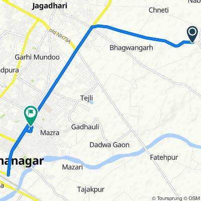 Route from Budiya Road, Yamunanagar