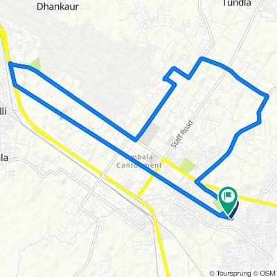 Unnamed Road, Ambala Cantt to Unnamed Road, Ambala Cantt