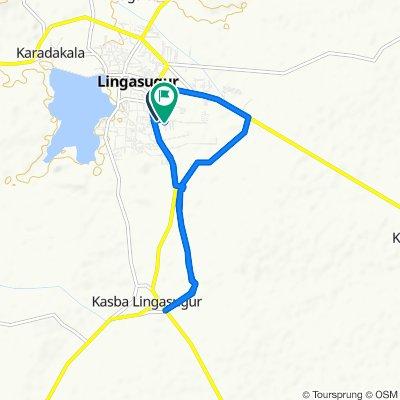 Route from NH 150A, Raichur