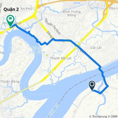 Đường Phan Văn Đáng, H. Nhơn Trạch to Đường Mai Chí Thọ, Ho Chi Minh City
