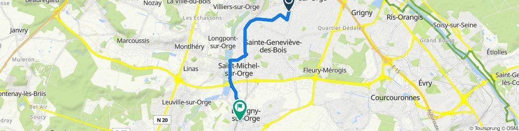 De 4 Avenue des Marguerites, Villemoisson-sur-Orge à 1 Boulevard de la République, Brétigny-sur-Orge