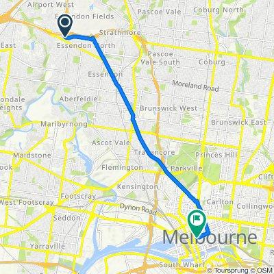 4 Irving Street, Niddrie to 534-540 Little Bourke Street, Melbourne