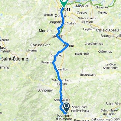De Route de Crozes, Larnage à 6 Rue Joseph Serlin, Lyon