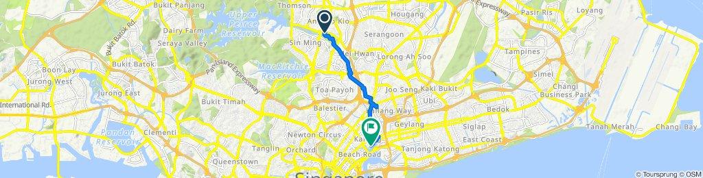 Ang Mo Kio Avenue 1 303, Singapore to Unnamed Road, Singapore