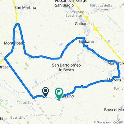 Da Via della Cembalina 215–239, Ferrara a Via del Taglione 3/C, Spinazzino