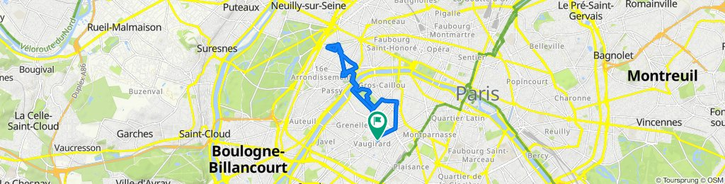 De 2–8 Place du Général Beuret, Paris à 92 Rue Cambronne, Paris