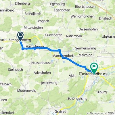 Münchner Straße 16, Althegnenberg nach Kurt-Schumacher-Straße 48–62, Fürstenfeldbruck