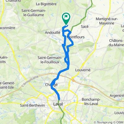 Itinéraire à partir de D225, Andouillé