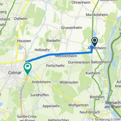 De Rue du Sponeck 14, Artzenheim à Impasse des Violettes 8, Horbourg-Wihr
