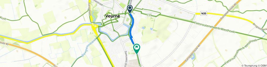 Vaartstraat 1, Veurne to Vaartstraat 50, Veurne