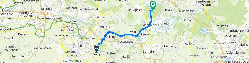 Itinéraire à partir de 43 Rue Louis Pasteur, Dechy