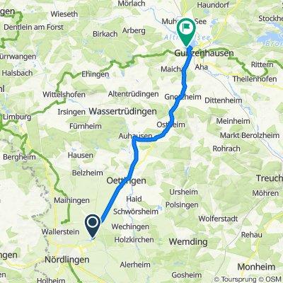 Bachstraße 5, Nördlingen nach Wald-Seezentrum 1, Gunzenhausen