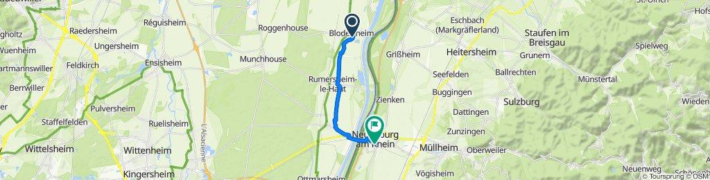 2bis Rue des Prunelliers, Blodelsheim nach Bahnhofstraße 11, Neuenburg am Rhein