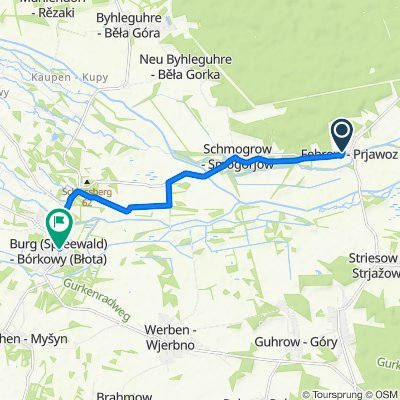Byhleguhrer Weg 6, Schmogrow-Fehrow nach Hauptstraße 46, Burg (Spreewald)