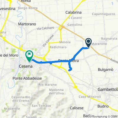 Via Cesenatico 4403 nach Semaforo-Cavour-Finali-Sozzi-Carducci, Cesena