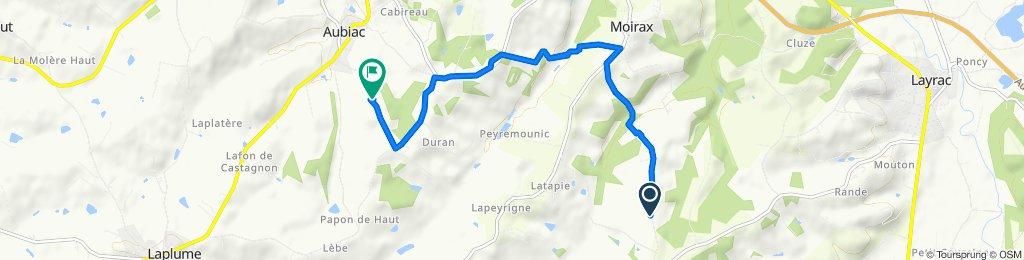 De Route de Trotte Lapin, Moirax à 30bis Chemin de Marron, Aubiac