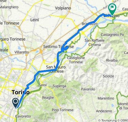 Carducci Nord, Torino to Via Don Dublino 7A, Chivasso
