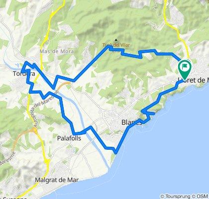 De Avinguda Vila de Blanes 130, Lloret de Mar a Carrer de Narcís Macià i Domènech 15, Lloret de Mar
