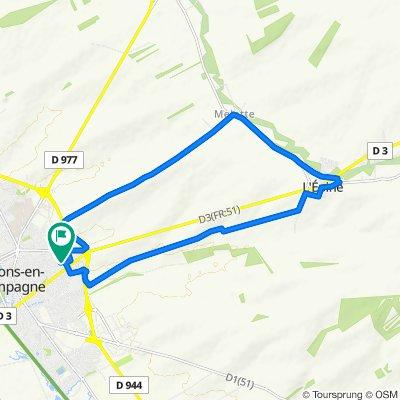 De 44 Impasse du Groupe Tritant, Châlons-en-Champagne à 44 Impasse du Groupe Tritant, Châlons-en-Champagne
