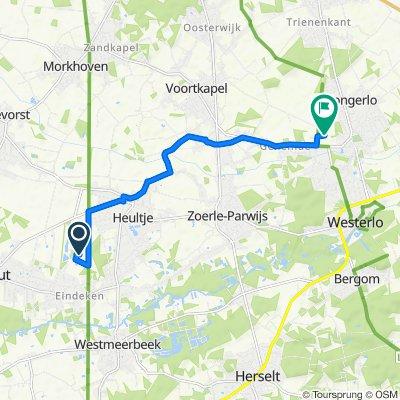 Route naar Abdijstraat 40, Westerlo