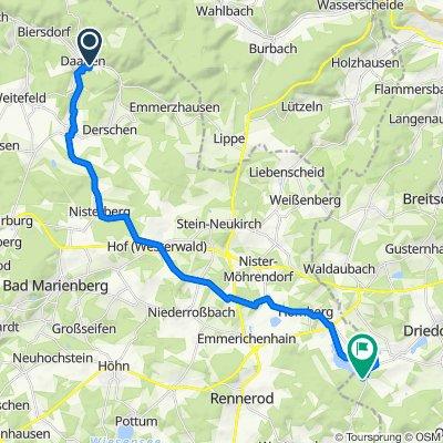 Martin-Luther-Straße 10, Daaden nach An der Krombachtalsperre 1, Driedorf