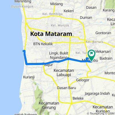 Jalan KEDIRI-NARMADA 15, Kecamatan Labuapi to Jalan KEDIRI-NARMADA 15, Kecamatan Labuapi