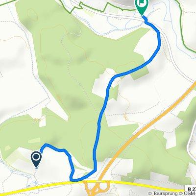 Route nach B279, Hollstadt