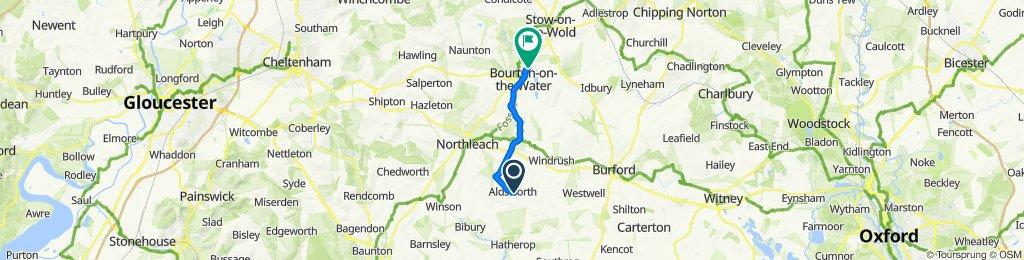 B4425, Cheltenham to Bourton Link, Cheltenham