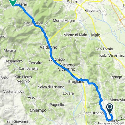 Da Stradella dei Mori 8, Sovizzo a Piazza Amedeo di Savoia Aosta 3–19, Recoaro Terme