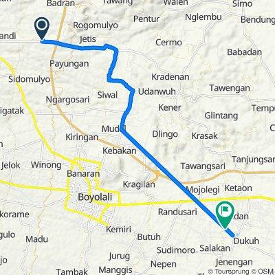 Jalan Raya Ampel - Simo 14, Kecamatan Ampel to Unnamed Road, Kecamatan Teras
