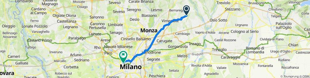 Da Via Indipendenza 85, Mezzago a Piazza Tre Torri 3, Milano