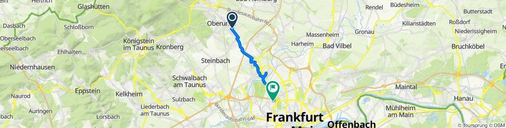 Bommersheimer Straße 32A, Oberursel (Taunus) nach Frauenlobstraße 60B, Frankfurt am Main