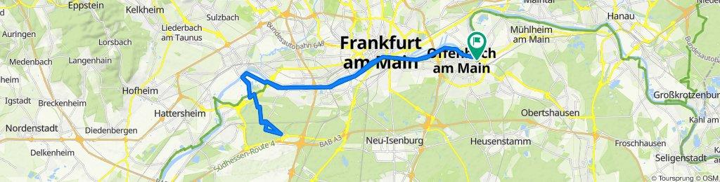 Friedhofstraße 50, Offenbach am Main nach Friedhofstraße 56, Offenbach am Main