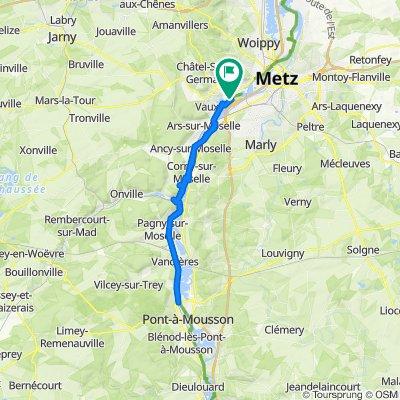 De D157b, Moulins-lès-Metz à D157b, Moulins-lès-Metz