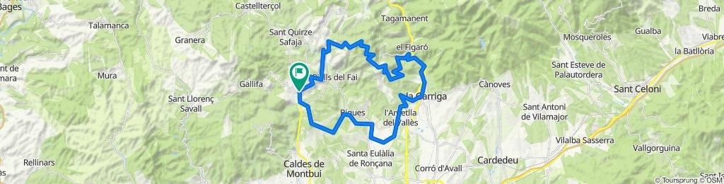 De Carrer Rocafort 1a, Sant Feliu de Codines a Carrer Rocafort 1a, Sant Feliu de Codines