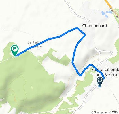 De 9 Rue de Chambray, Sainte-Colombe-près-Vernon à Route de Champenard, Autheuil-Authouillet