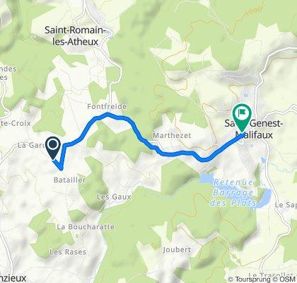 De La Combette, Jonzieux à Place du 19 Mars 1962, Saint-Genest-Malifaux
