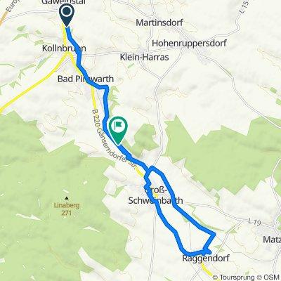 Weidenbachgasse 2, Gaweinstal nach Unnamed Road