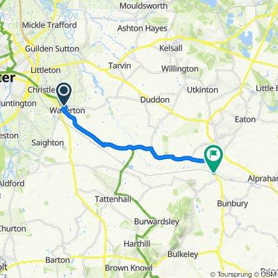 28 Fox Lane, Chester to Iron Lock Cottage, Beeston Brook, Tarporley