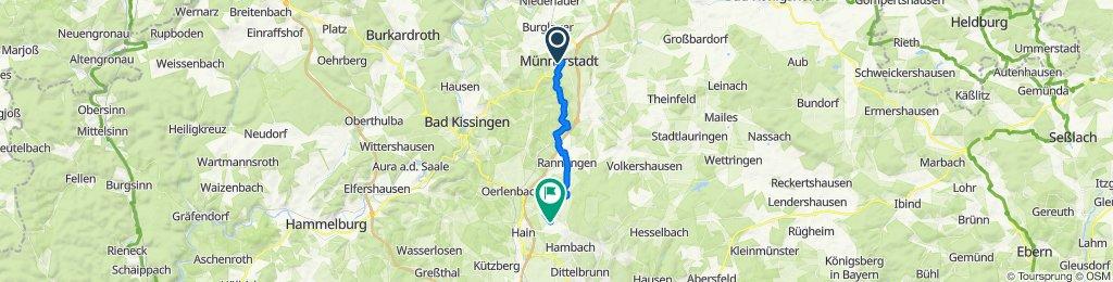 Veit-Stoß-Straße 23, Münnerstadt nach Am Weiher 5, Dittelbrunn