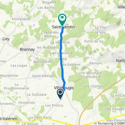 De D370, Fouchères à 7 Rue Sulpice Legendre, Saint-Sérotin