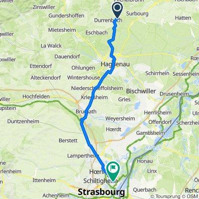 De 16 Rue du Moulin, Biblisheim à 115 Rue Boecklin, Strasbourg