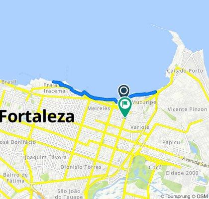 De Avenida Beira Mar, 3211, Fortaleza a Rua Ana Bilhar, 1010–1120, Fortaleza